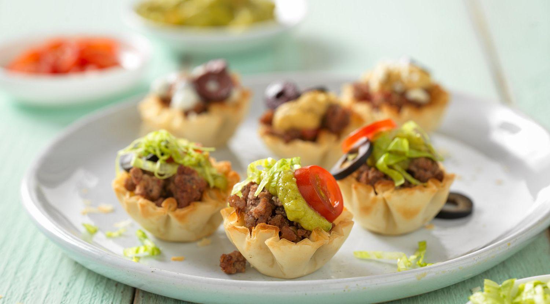 Tiny Taco Beef Tarts