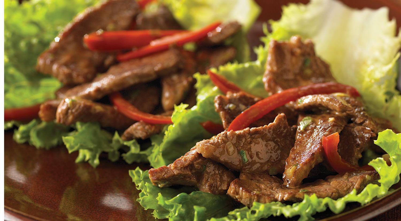 Thai Beef Wok 'n Roll-Ups