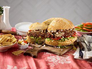 Beef Muffuletta Burger