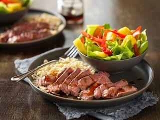 Pineapple-Soy Glazed Beef Steaks