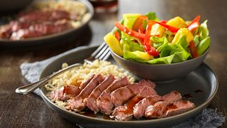 Pineapple-Soy Glazed Beef Steaks