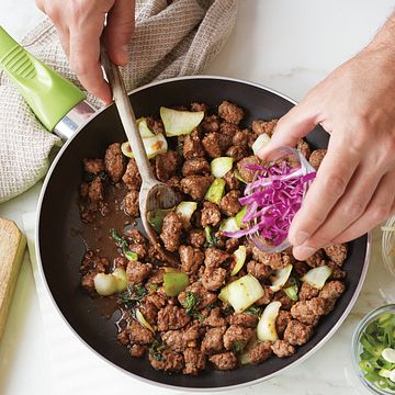 Korean Beef Skillet Step Shot
