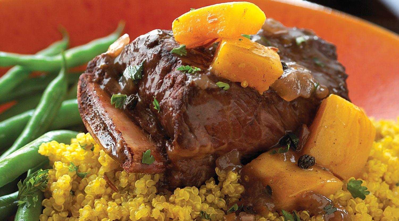Aji-Beef Short Ribs with Golden Herbed Quinoa