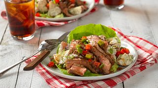 Grilled Flank Steak and Potato Salad