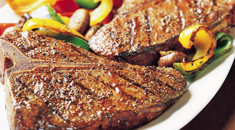 T-Bone Steaks & Grilled Vegetables