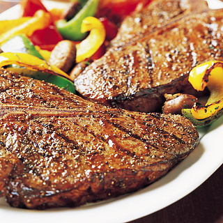 T-Bone Steaks with Grilled Vegetables
