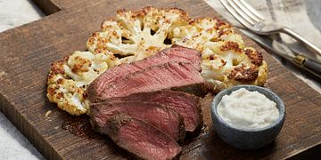 Beef Tenderloin with Roasted Cauliflower
