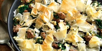 Confetti Beef and Spinach Pie