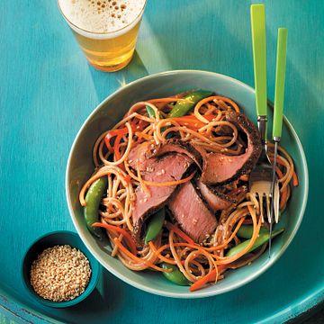 Grilled Steak and Asian Noodle Salad
