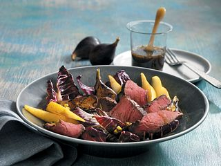 Treviso, Fig & Pear Steak Salad