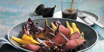 Treviso, Fig & Pear Steak Salad