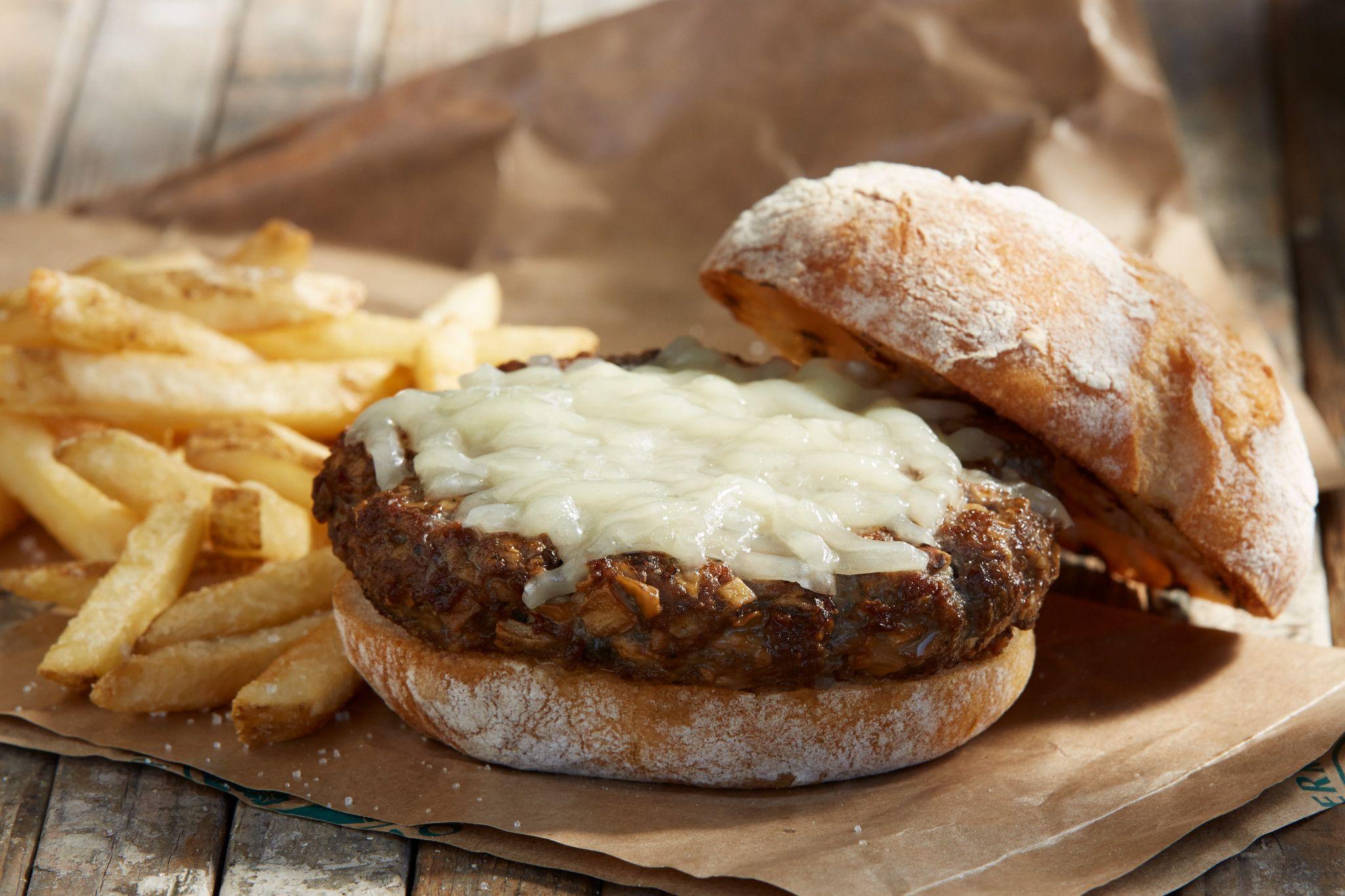 Beef and Mushroom Burgers