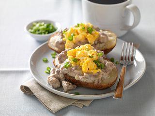 Beefy Breakfast Stuffed Potato