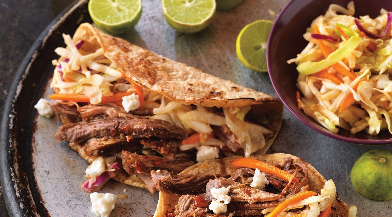 Beer-Braised Spicy Beef Tacos
