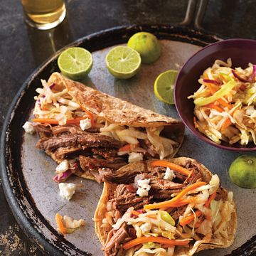 Beer-Braised Spicy Beef Tacos