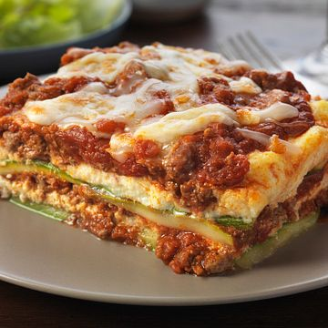 "Beef and Zucchini ""Noodle"" Lasagna"
