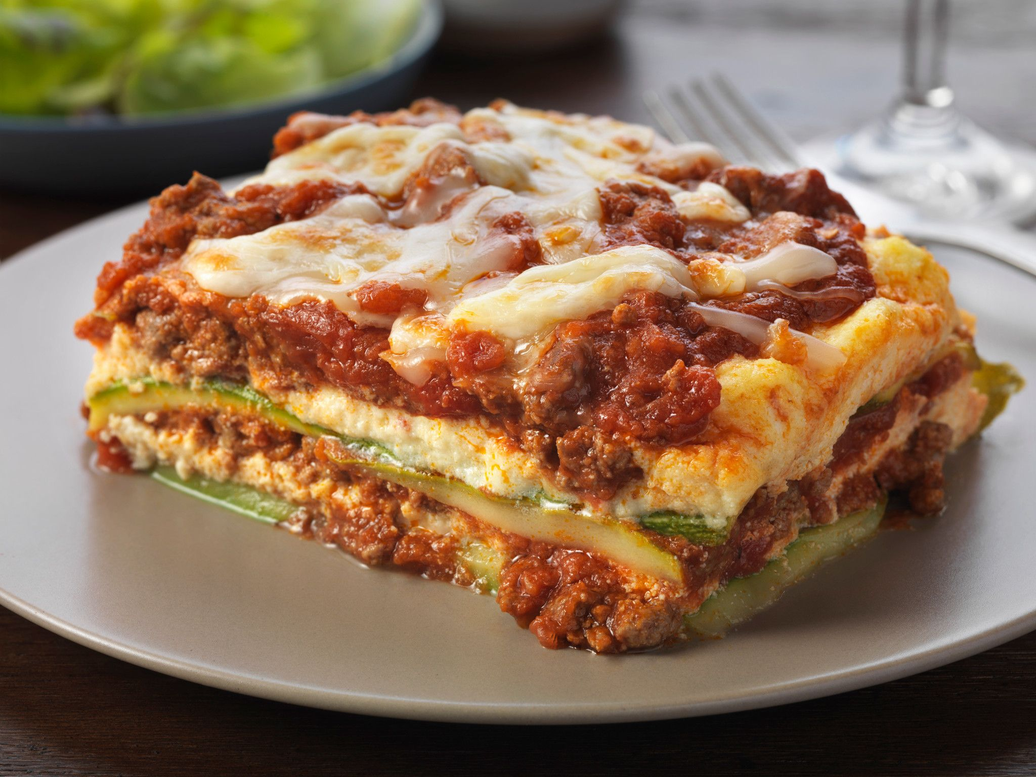 """Beef and Zucchini """"Noodle"""" Lasagna"""