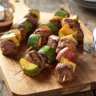 Beef Top Sirloin and Potato Kabobs