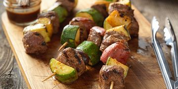 Beef Steak & Potato Kabobs