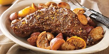 Lemon-Garlic Beef Tri-Tip and Roasted Potatoes