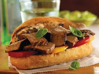 Garlic-Basil Toasted Beef Sandwiches