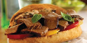 Garlic-Basil Toasted Beef Sandwiches