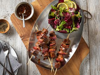 Fig Balsamic Glazed Beef Kabobs