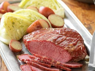 Homestyle Corned Beef with Dilled Cabbage Vertical