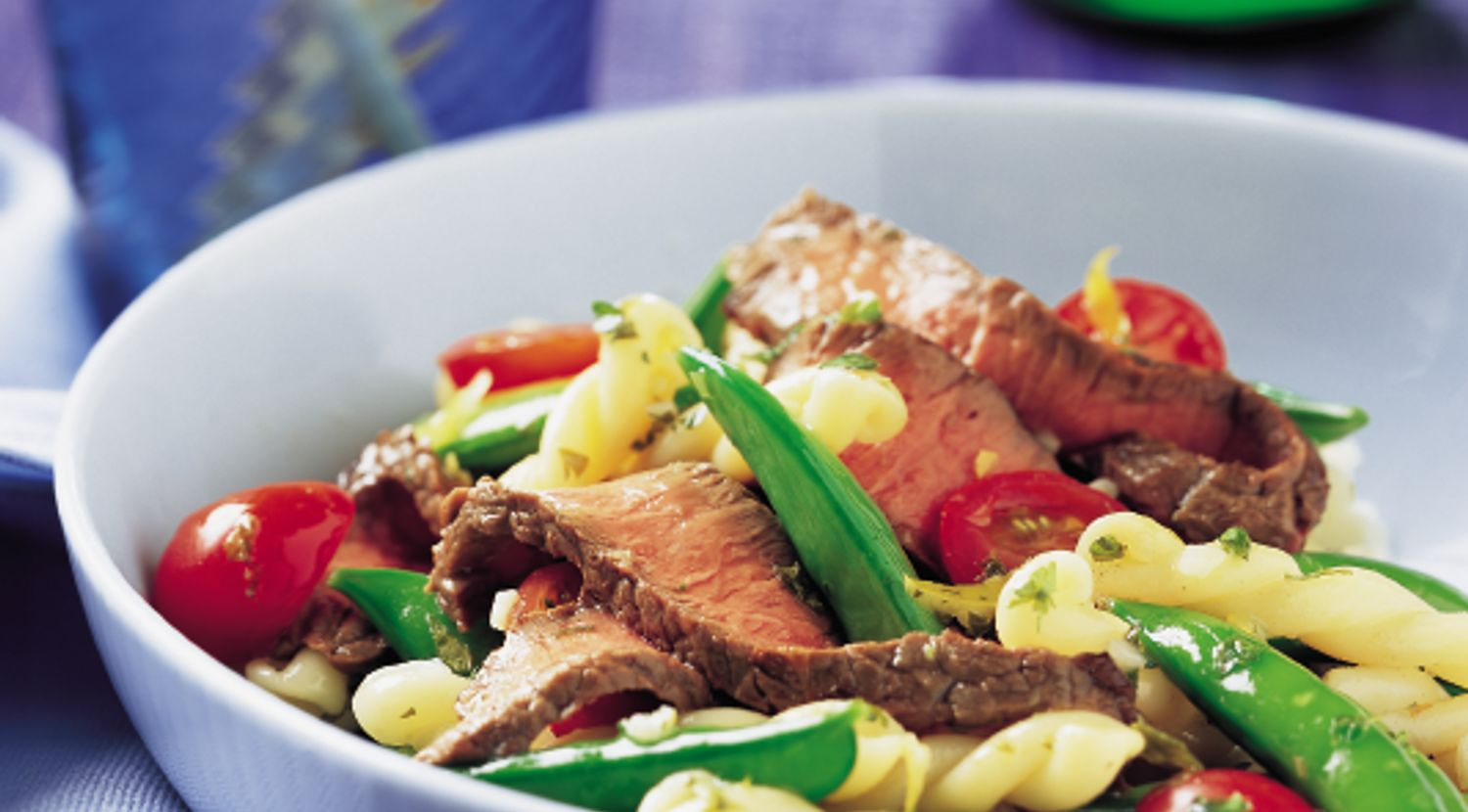 Sirloin with Sugar Snap Pea & Pasta Salad