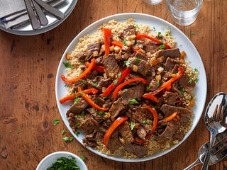 Beef Stir-Fry with Couscous