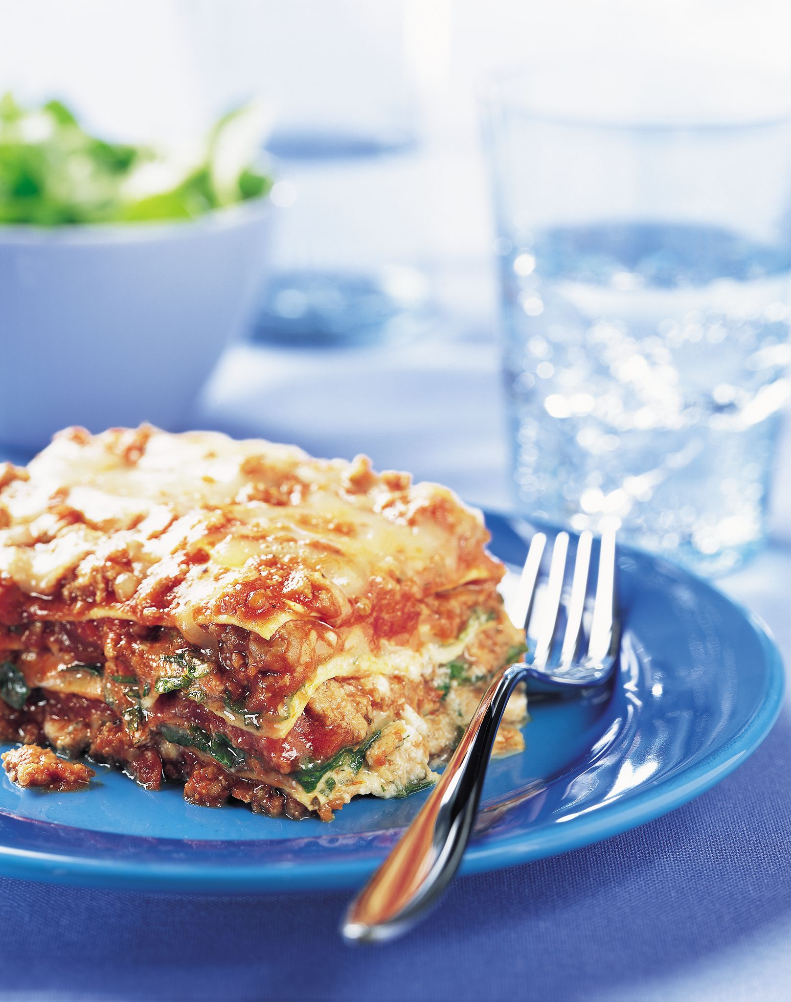 Beef, Arugula and Spinach Lasagna