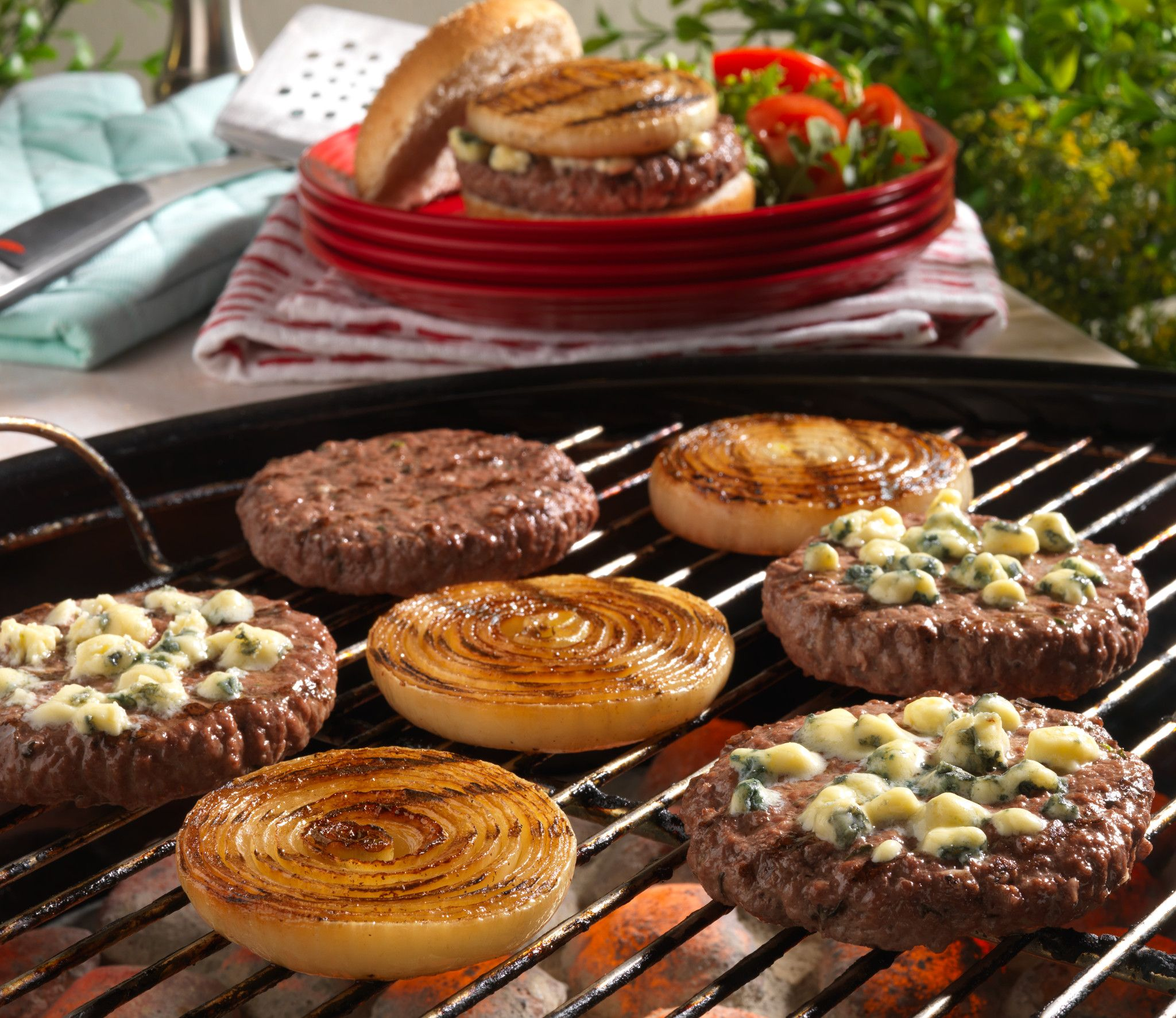 Grilled Onion Cheeseburgers