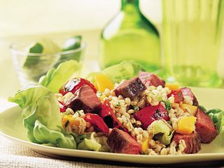 Beef Mango and Barley Salad