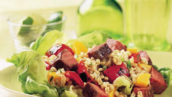 beef-mango-and-barley-salad