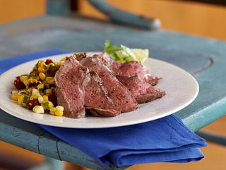 Steak with Grilled Corn Salsa