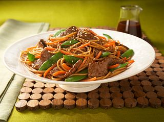 asain beef and noodles