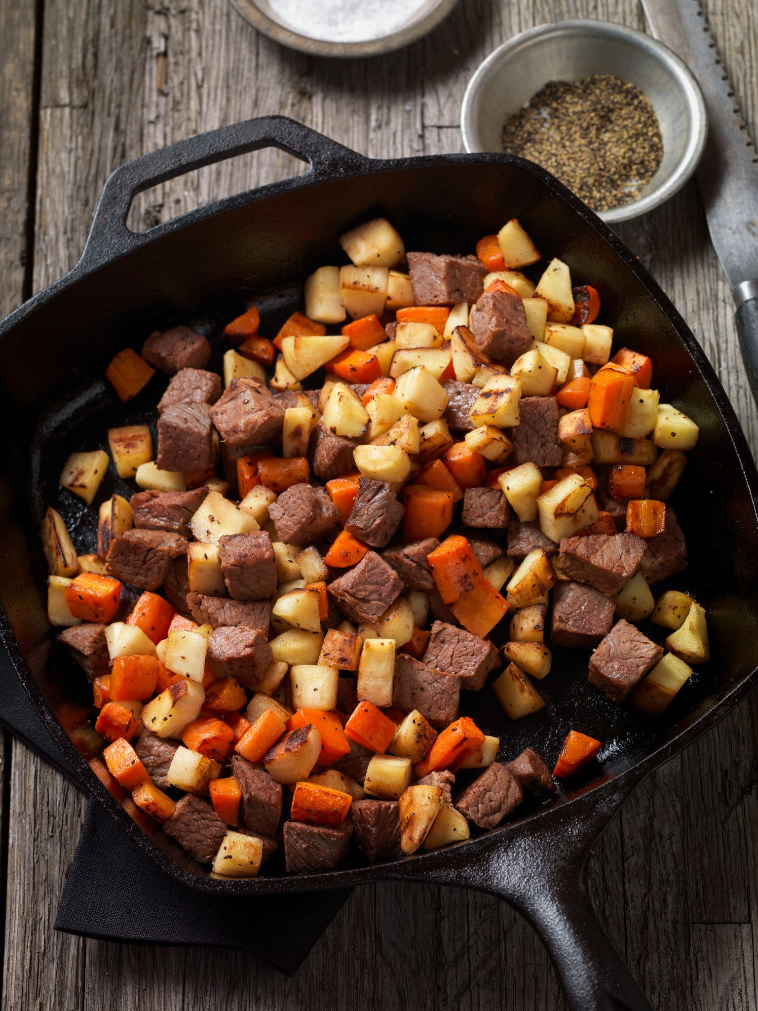 Beef Steak and Root Vegetable Hash