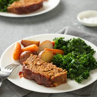 Slow Cooker Beef Meatloaf & Vegetables