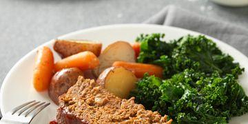 Slow Cooker Meatloaf and Vegetables