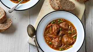 Slow Cooker Pot Roast Soup