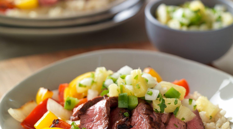 Hawaiian Beef Fajita Bowl