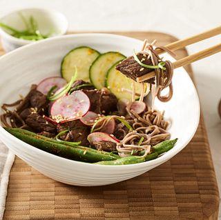 Sous Vide Teriyaki Beef Noodle Bowl