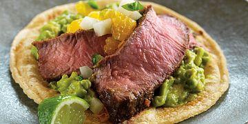 Mini Beef Tacos with Citrus Salsa