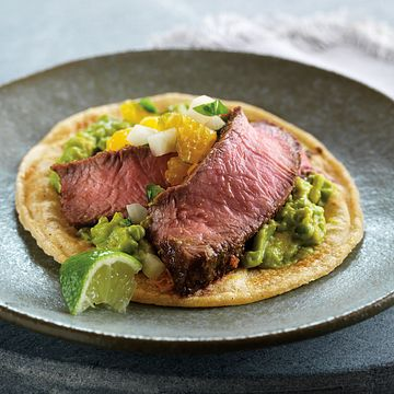 Mini Beef Tacos with Citrus Salsa
