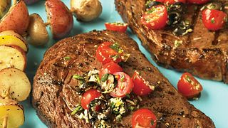 Ribeye Steaks with Fresh Tomato Tapenade
