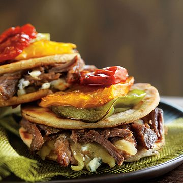 Shredded Beef and Blue Cheese Quesadillas