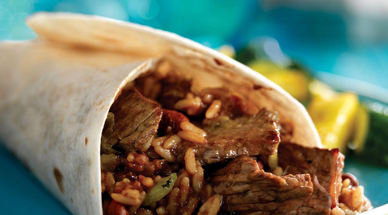 Cajun Beef & Bean Burritos