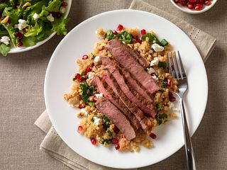 Pomegranate Steak with Quinoa