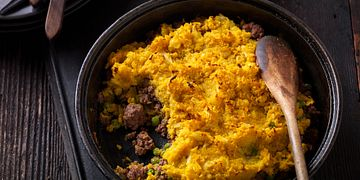 Indian Beef Shepherd's Pie