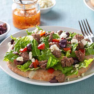Mediterranean Beef & Salad Pita